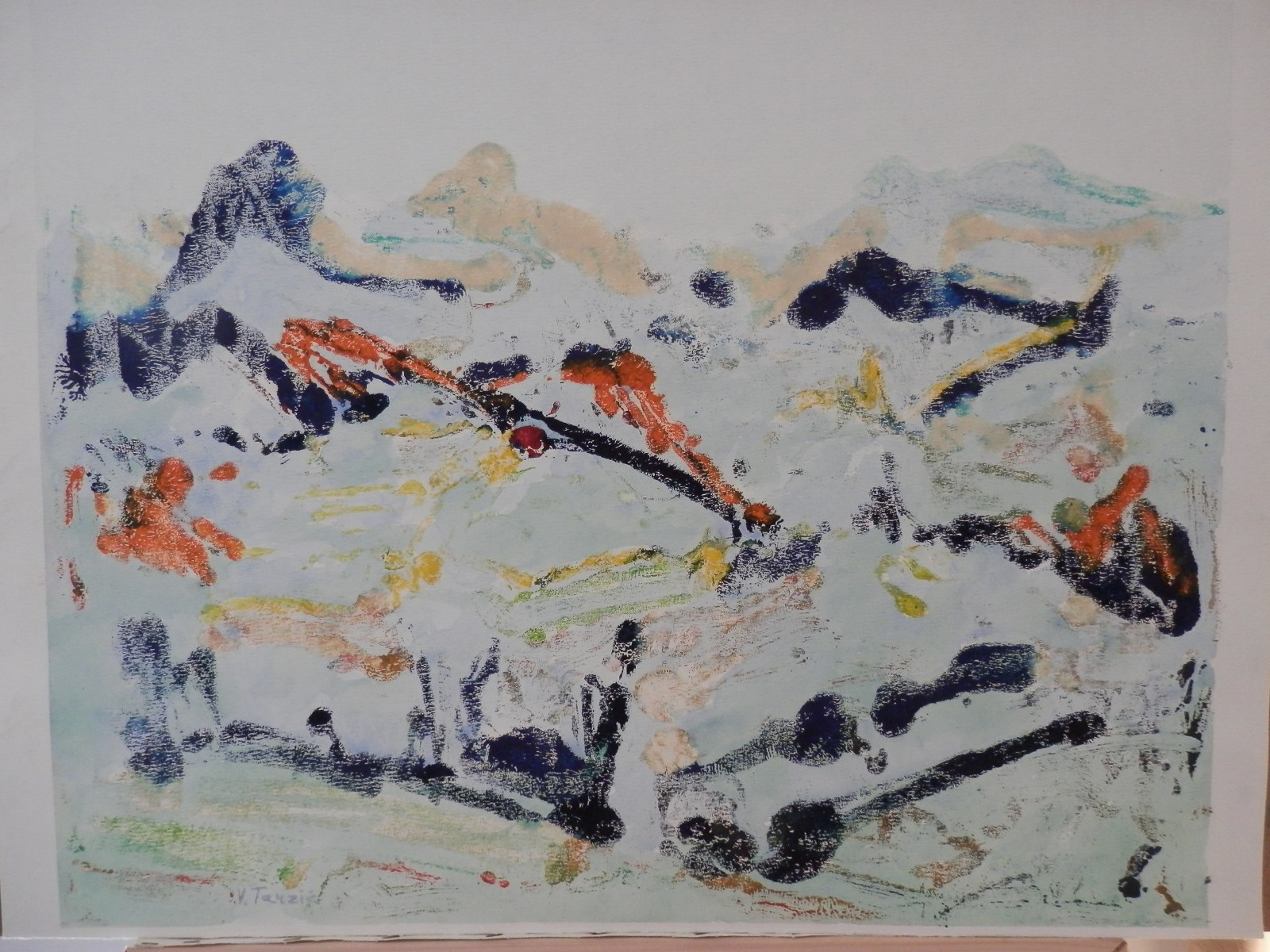 Br. 149 - Ulje i akvarel na papiru - 55x69 <br> 	No. 149 - Oil and aquarel on paper - 55x69