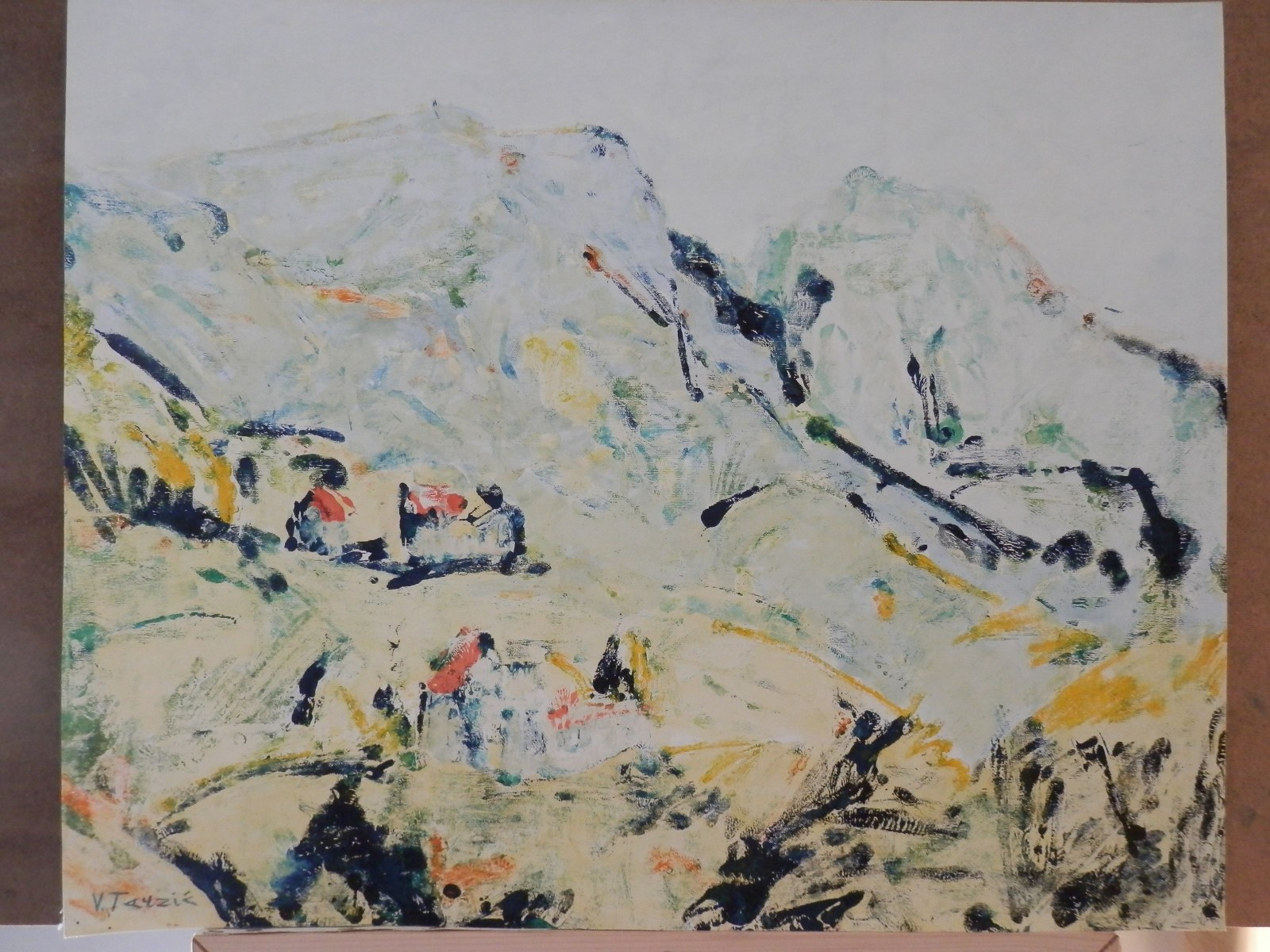Br. 152 - Ulje i akvarel na papiru - 61x75 <br> 	No. 152 - Oil and aquarel on paper - 61x75