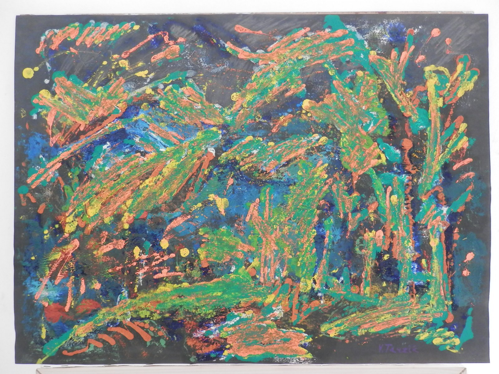 Br. 172 - Ulje na papiru - 50x67 <br> 	No. 172 - Oil on paper - 50x67