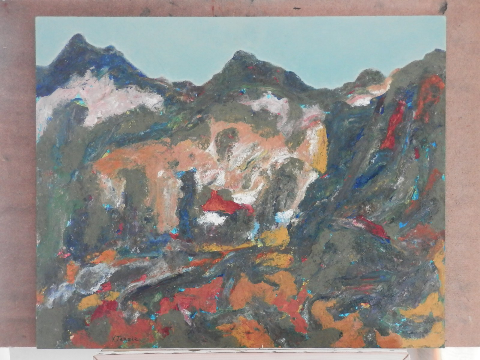 Br. 64 - Ulej na medijapanu - 65x80 <br> 	No. 64 - Oil on medijapanu - 65x80