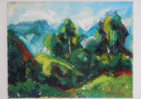 Br. 136 - Ulje na platnu - 31x40,5 <br> 	No. 136 - Oil paint - 31x40,5