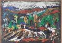 Br. 154/1 - Ulje na papiru - 55x75 <br> 	No. 154/1 - Oil on paper - 55x75