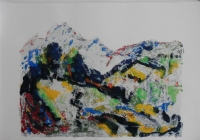 Br. 154 - Ulje na papiru -  70x100 <br> 	No. 154 - Oil on paper -  70x100
